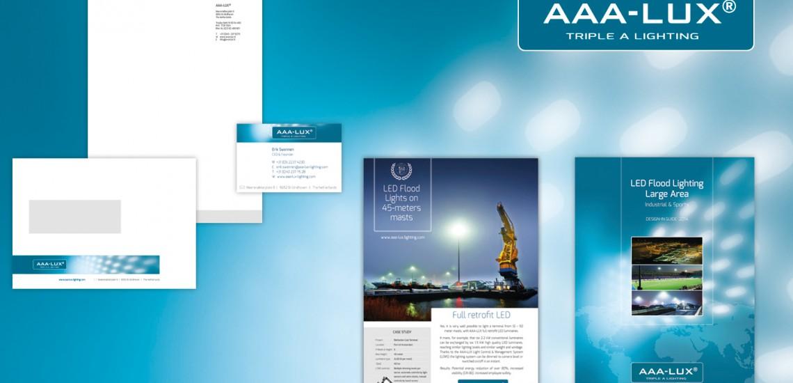 Huisstijl AAA-LUX  > alle uitingen van een snel groeiend bedrijf