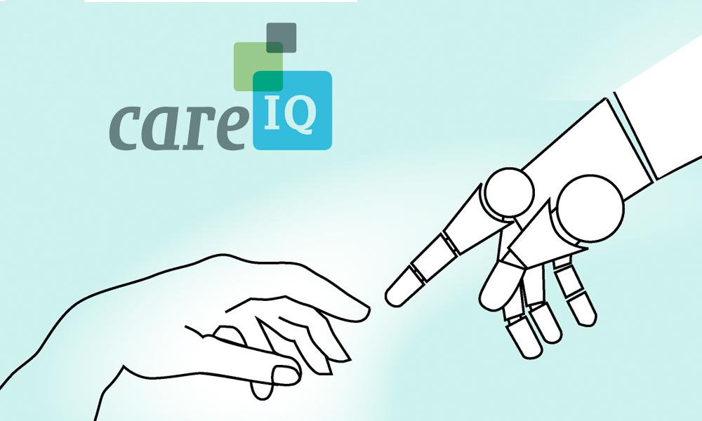 De visualisaties geven de werkgebieden weer van Care-IQ