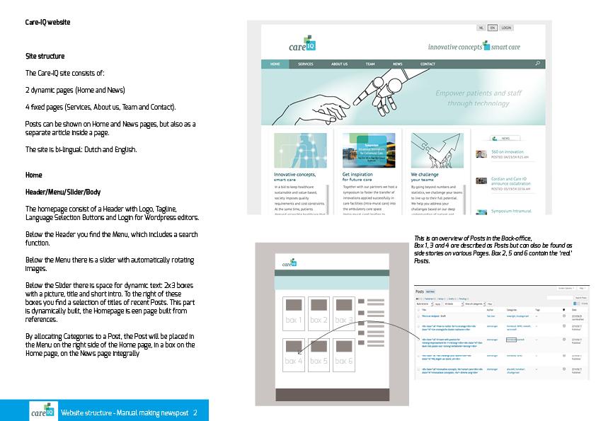 Om het bloggen wat eenvoudiger te maken is er een speciale websitemanual